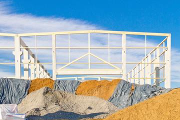Bau einer Lagerhalle