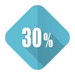 30 percent flat icon sale sign