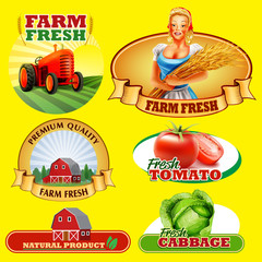 stickers farm fresh  product