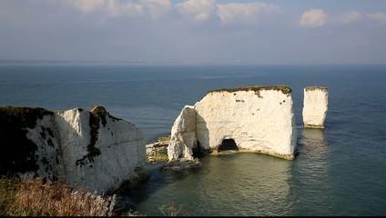 Jurassic Coast Dorset England UK chalk stack Old Harry Rocks