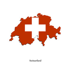 Map of Switzerland  for your design