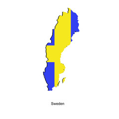 Map of Sweden  for your design
