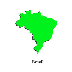Map of Brazil for your design