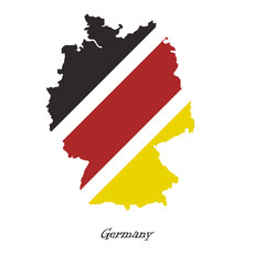 Map of Germany  for your design