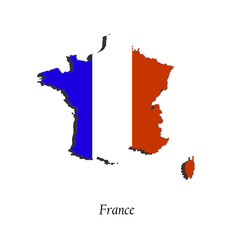 Map of France  for your design