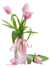 pink tulips posy