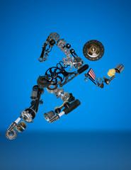 Many new spare parts