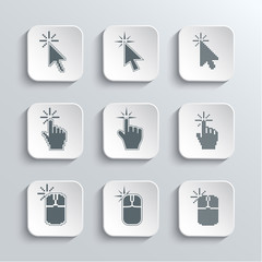 Click Here Mouse Web Icons Set