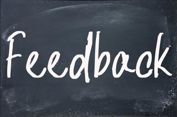 feedback word write on paper