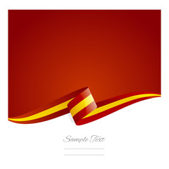 New abstract Spain flag ribbon
