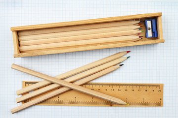 Pencils and rule