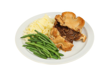 Pie and veg