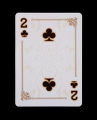 Spielkarten - Poker - Kreuz Zwei im Spiel