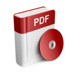 PDF book download file. 3D Icon isolated