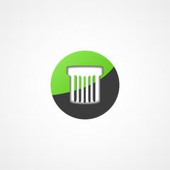 Trash can web icon
