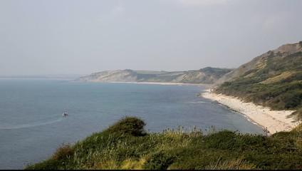 View from Osmington Mills Dorset England UK direction Weymouth