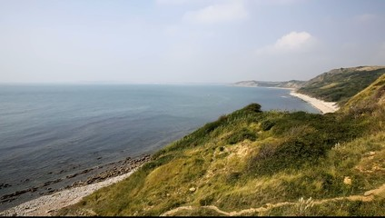 View from Osmington Mills of coast of Dorset England UK