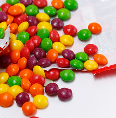 Multicolored and tasty little candies