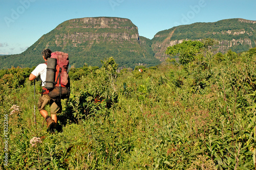 Tuinposter Canyon Trekking in southern Brazil