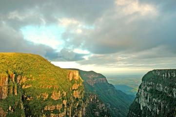 Majestic canyon in southern Brazil