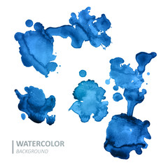 Vector Illustration of Watercolor Design Elements
