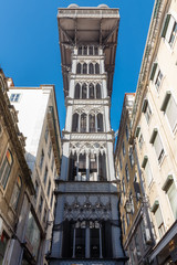 Santa Justa Lift.  Lisbon. Portugal.