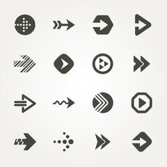 Vector Arrow signs. Icon set 2