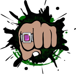 Hip Hop fist icon
