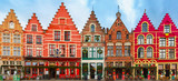 Bożenarodzeniowy Grote Markt kwadrat Bruges, Belgia.