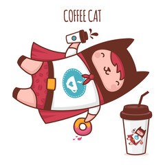 Character Cat coffee