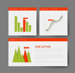 Simple infographic dashboard template