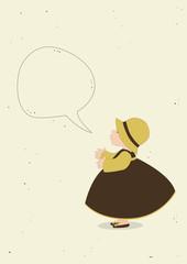 Cute girl with speech bubble