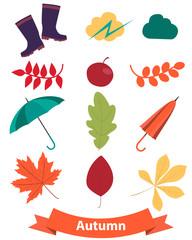 Icons set autumn