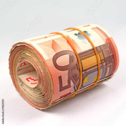 Leinwanddruck Bild Geldrolle