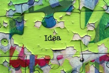 Idea puzzle concept