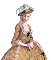 Rococo Lady Portrait