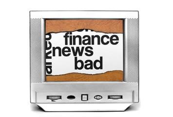 Bad finance news on tv
