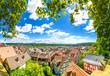 canvas print picture - Marburg an der Lahn, Blick über die Altstadt