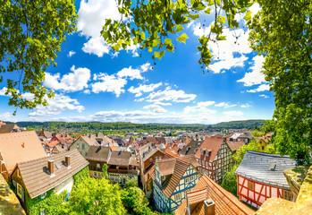 Marburg an der Lahn, Blick über die Altstadt