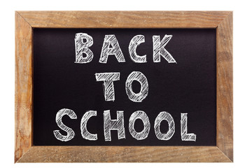 Back to school chalk writing