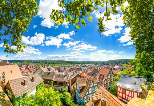 canvas print picture Marburg an der Lahn, Blick über die Altstadt
