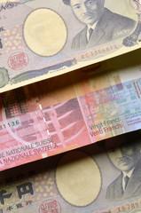 日本円 スイス・フラン Japanese yen Swiss franc Jen Frank szwajcarski