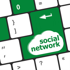 Social network keyboard key button