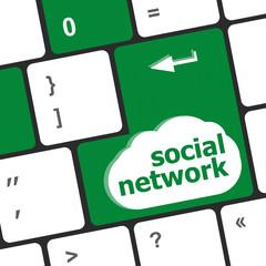 Social network keyboard key button