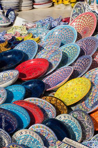 Fotobehang Tunesië assiette tunisie