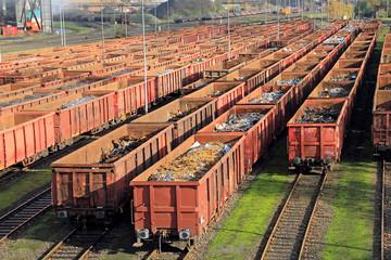 Güterwagon, Industrie, Bahnhof