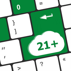 21 plus button on computer keyboard keys