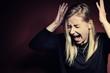Screaming women. Pain and panic.