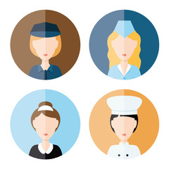 women profession icons
