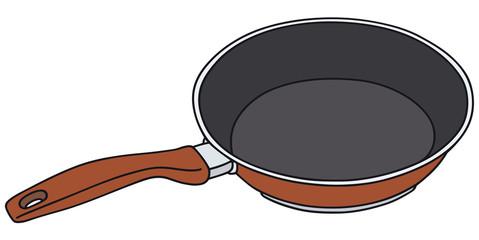 Hand drawing of a nonadhesive pan